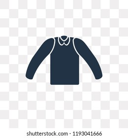 Cotton Cardigan vector icon isolated on transparent background, Cotton Cardigan transparency concept can be used web and mobile