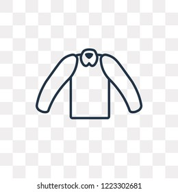 Cotton Cardigan vector outline icon isolated on transparent background, high quality linear Cotton Cardigan transparency concept can be used web and mobile