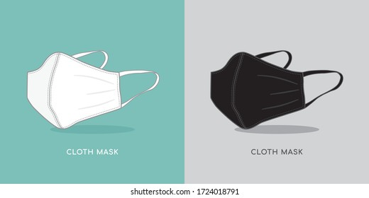 Cotton cloth face mask protective Coronavirus in the air.