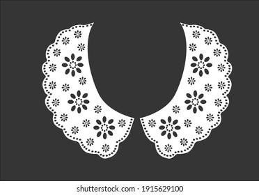 cotton collar hand drawn design vector art