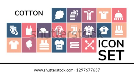 cotton icon set 19