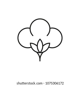Cotton icon. Vector