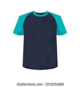 cotton shirt clothes black and blue colors icon vector illustration design