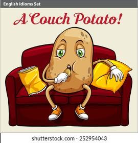 A couch potato idiom