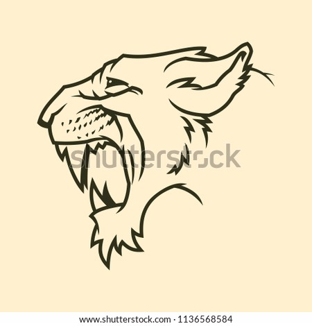 82ed0fbfab9 Cougar Panther Head Silhouette Stock Vector (Royalty Free ...