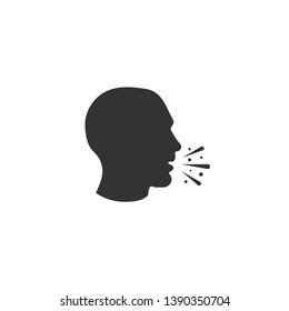 Cough icon in simple design. Vector illustration