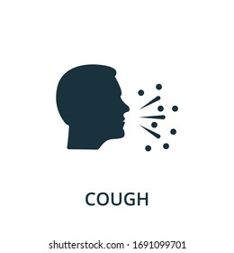 Cough icon. Simple illustration from coronavirus collection. Creative Cough icon for web design, templates, infographics and more.