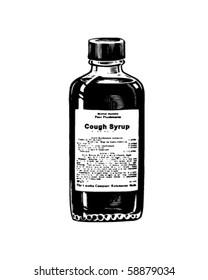 Cough Syrup - Retro Clip Art