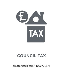Council tax icon. Council tax design concept from Council tax collection. Simple element vector illustration on white background.