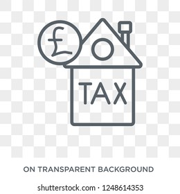 Council tax icon. Council tax design concept from Council tax collection. Simple element vector illustration on transparent background.