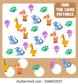 Count the animal games for kid. Mini games series for children