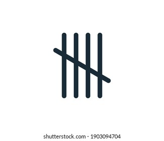 Count with Lines Icon Vector Logo Template Illustration Design