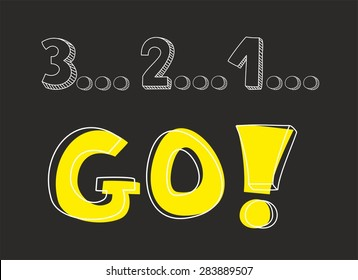 Countdown 3 2 1 Go Hand Stock Vector (Royalty Free) 283889507