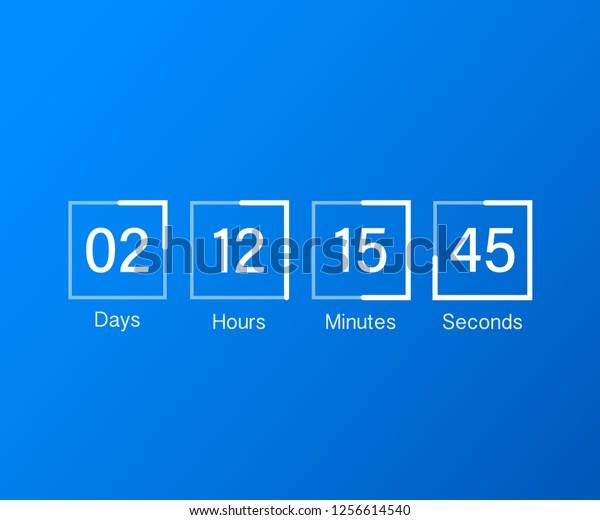 Countdown Clock Counter Timer Ui App Stock Vector (Royalty Free