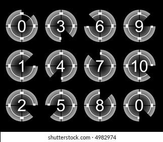 Countdown for film and movie (vector)