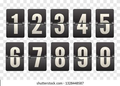 Countdown flip board with Scoreboard. Flip countdown clock counter.