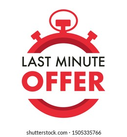 Countdown, last minute offer, one day sales and timer or stopwatch isolated icon vector. Promo sticker, business limited special promotion, best deal emblem or logo. Clock dial symbol, ticking tim