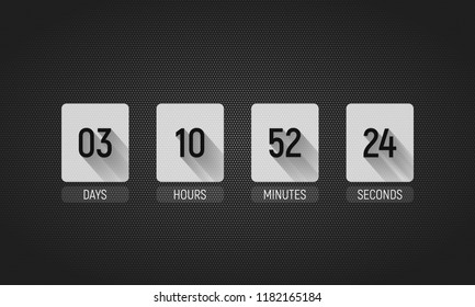 Countdown timer. Clock counter. Vector template for your design.