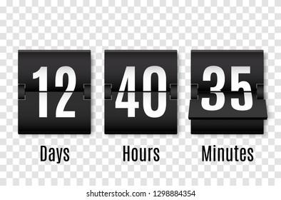 Countdown timer. Clock counter. Vector