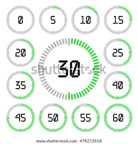 countdown timer five minutes interval modern stock vector royalty