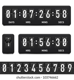 Countdown timer. Illustration on white background for design