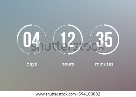 countdown web site vector flat template のベクター画像素材