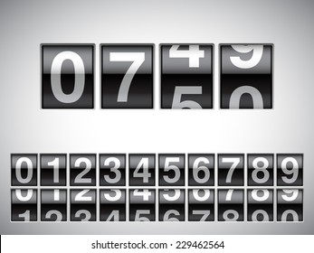 Counter with all numbers.