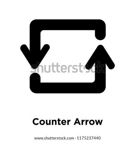 Counter Arrow Icon Vector Isolated On Stock Vector (Royalty