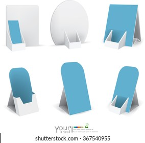 Counter display box with soft shadow isolated on transparent background