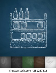 counter icon. Hand drawn vector illustration. Chalkboard Design