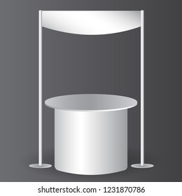 counter promotion exhibition stand mockup for event