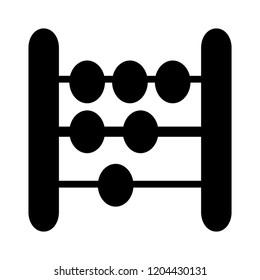 counting beads icon. Abacus icon - education icon - mathematics school - symbol