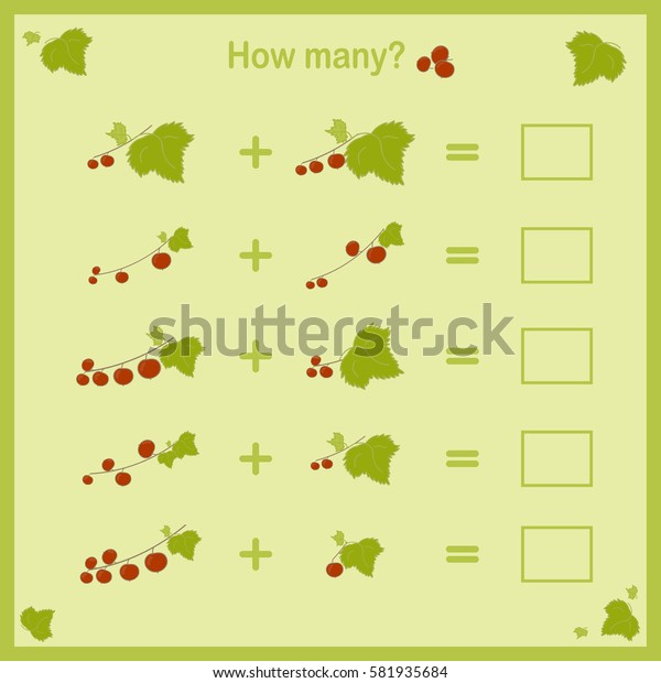 Counting game for kids. Vector.