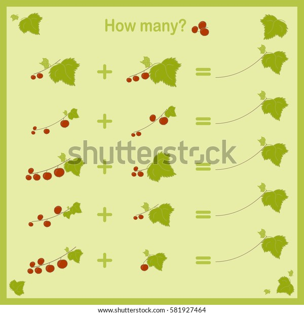 Counting Game for kids. Vector educational a mathematical cards.