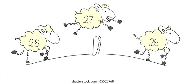 Counting sheep 1 - vector.