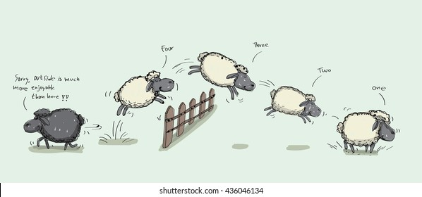 Counting Sheep Jumping Over the Fence