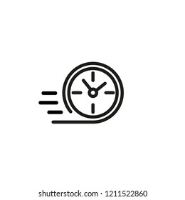 Counting speed line icon. Express delivery, fast service, hurry. Fast time concept. Vector illustration can be used for topics like business, time management, service