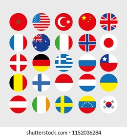 Countries flags vector