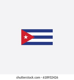 Country Flag of Cuba Vector Illustration