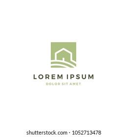 Country House Logo Design Template