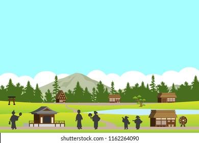country landscape illustration