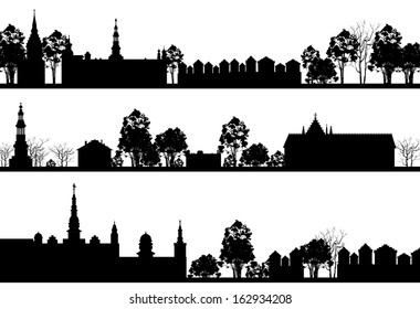 country Landscapes with Church and Trees