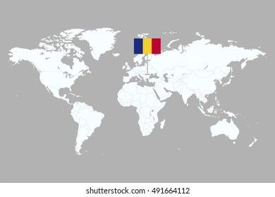 country marked with flags