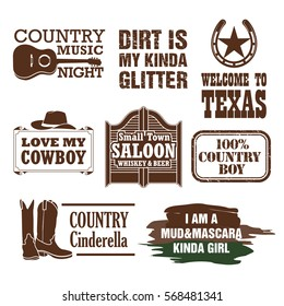 Country quotes and design elements