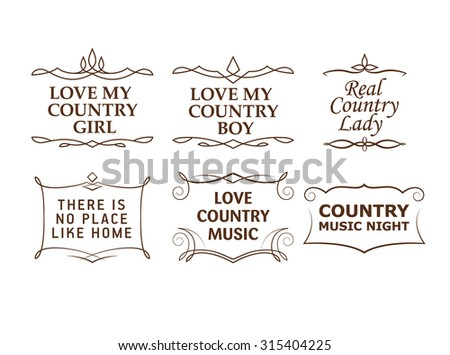 Country Quotes Strokes Editable Stock Vector Royalty Free