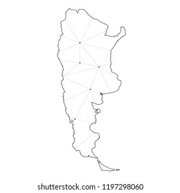 A Country Shape Illustration of Argentina