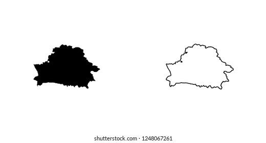A Country Shape Illustration of Belarus Belarus