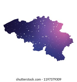 A Country Shape Illustration of Belgium
