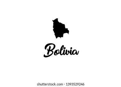 A Country Shape Illustration of Bolivia