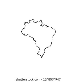 A Country Shape Illustration of Brazil